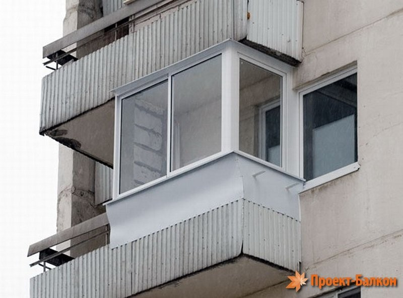 Застекленные балконы в домах серия 1 528кп41.