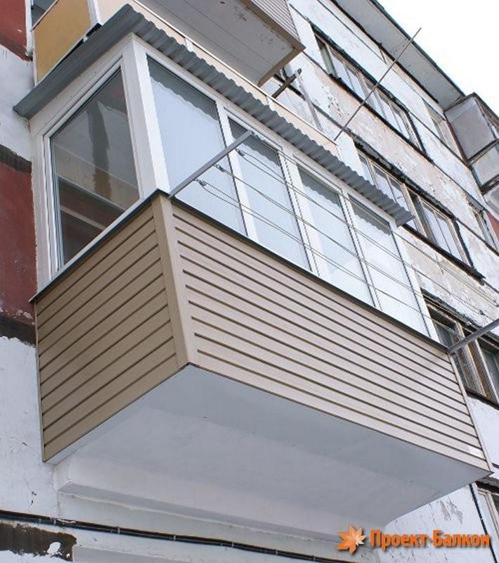 Внешняя отделка балконов и лоджий.