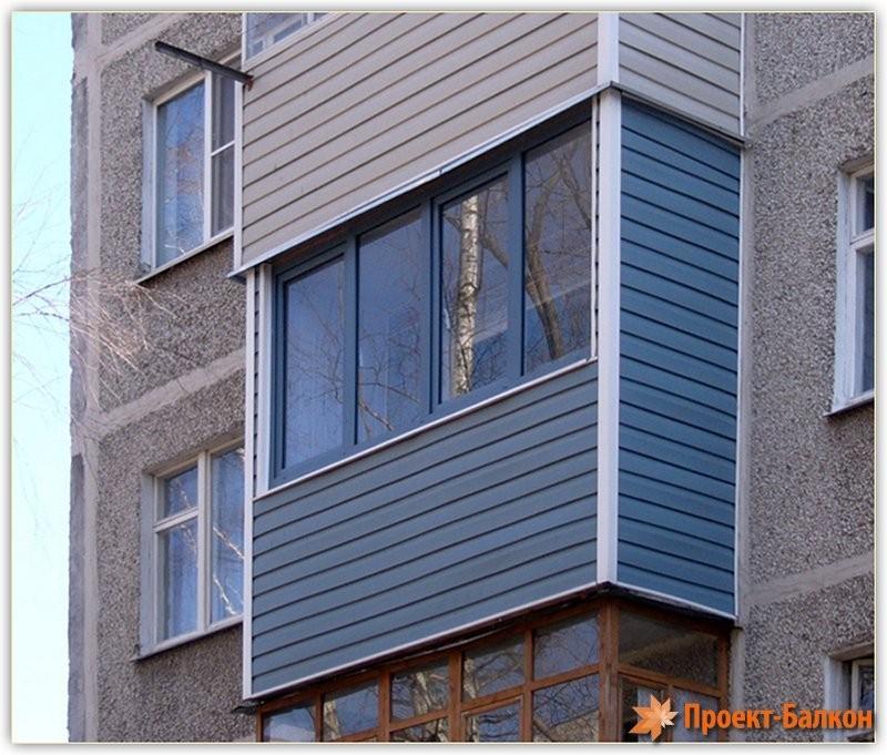 Интересная отделка балкона.