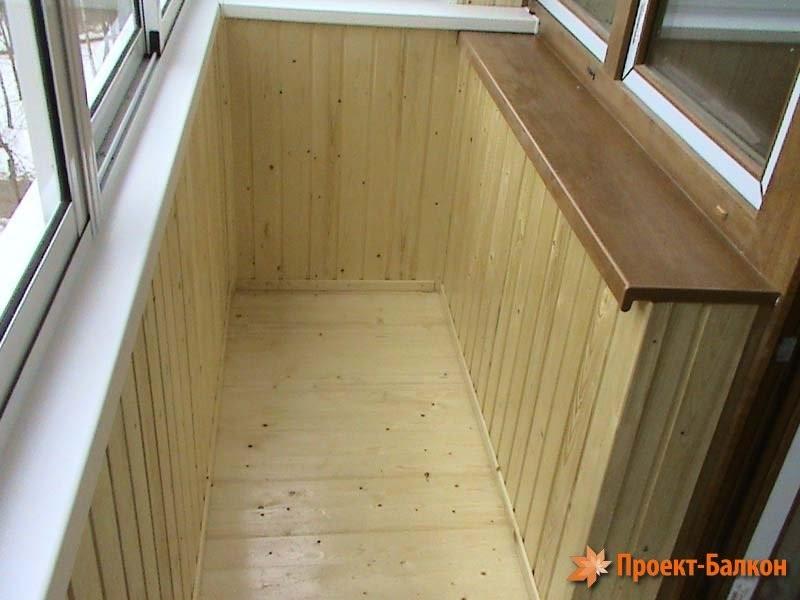 """Проект балкон """" внутренняя отделка балкона деревом."""
