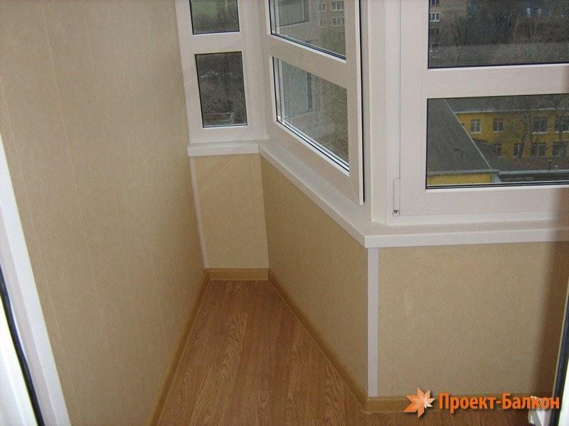 Отделка балкона пластиковыми панелями вдоме п 44.