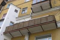 Балкон до начала работ, открытый, отсутствует крыша
