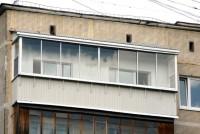 Остекление Provedal, возведение крыши, вынос по подоконнику, отделка парапета профлистом, в доме 1-515/9М