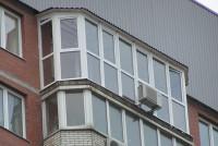 Теплое остекление KBE от пола, монтаж крыши над балконом