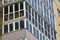 Замена панорамного остекления от застройщика протяженностью 12,5 метров, на качественный профиль Rehau, тонировка стекол