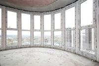 Замена панорамного фасадного остекления от застройщика на ПВХ профиль Rehau