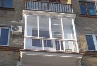 Панорамное остекление балкона алюминиевым профилем Provedal